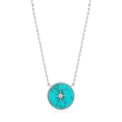ANIA HAIE ANIA HAIE Necklace   TURQUOISE EMBLEM   ZILVER   N022-02H