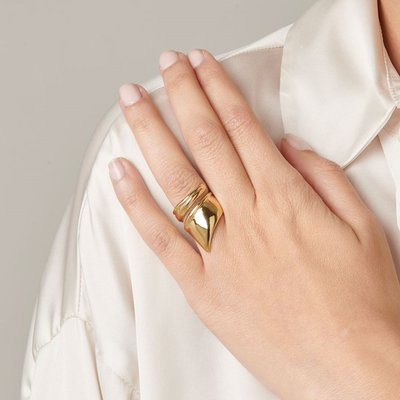 UNOde50 UNOde50 Ring | LIGHT AS A FEATHER | GOLD | JAPAN | ANI0624ORO0