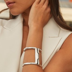 UNOde50 UNOde50 Armband | BIS-A-TWO | ZILVER | Brede Armband