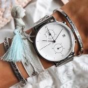 KAPTEN & SON KAPTEN & SON Horloge | CHRONO | ZILVER | 40 MM