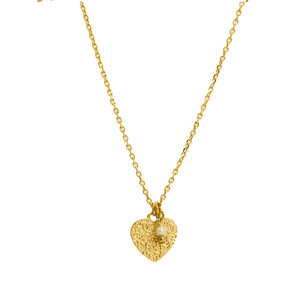 LILLY LILLY Ketting | Tumbled Heart | Gold | Pearl