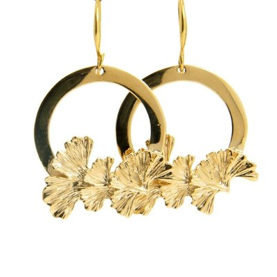 LILLY LILLY Oorbellen |  Big Flowerring | Gold | 18 Karaats