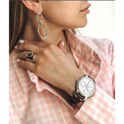 UNOde50 UNOde50 Horloge    LET'S CATCH UP   BRUIN WIT   REL0104BLNMAR0U