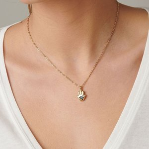 UNOde50 UNOde50  Ketting | GIVE ME 5 | GOUD | Blauw Kristal | MY LUCK