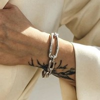 UNOde50 UNOde50 Armband | CHAIN BY CHAIN | ZILVER | SCHAKEL | FW18
