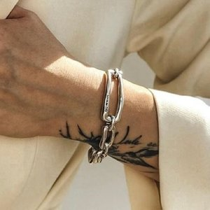 UNOde50 UNOde50 Armband | CHAIN BY CHAIN | ZILVER | SCHAKEL | FW18