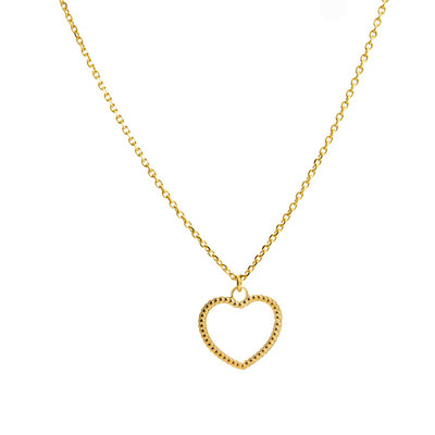 LILLY LILLY Ketting | Open Heart Balls | Verguld