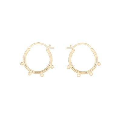 MIAB Jewels MIAB Oorbellen | Goud | Hoop Dot | 14k Goud Vermeil