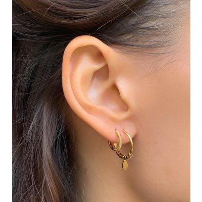 MIAB Jewels MIAB Oorbellen | Goud | Hanging Hoop | 14k Goud Vermeil