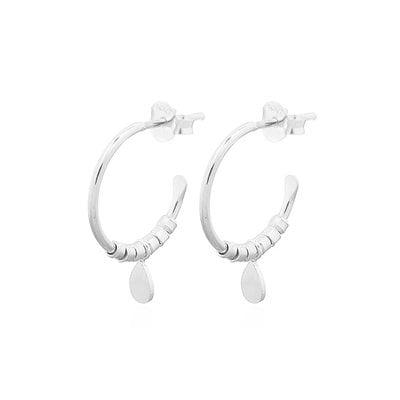MIAB Jewels MIAB Oorbellen | Zilver | Hanging Hoop | 925 Sterling Zilver