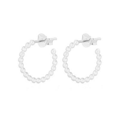 MIAB Jewels MIAB Oorbellen | Zilver | Hoop Balls | 925 Sterling Zilver