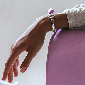 UNOde50 UNOde50 Armband | ZEN THINK PINK | ZILVER