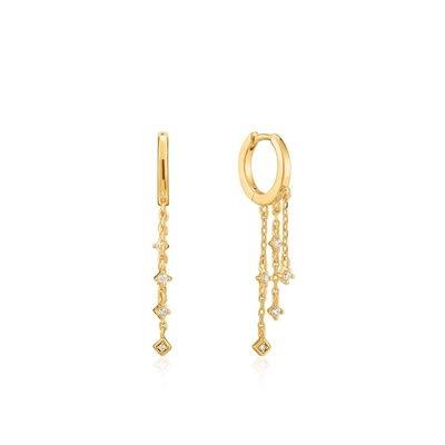 ANIA HAIE ANIA HAIE Earrings | SPARKLE CASCADE HUGGIE | GOLD | E023-02G