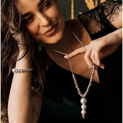 UNOde50 UNOde50  Ketting | LORDLY | ZILVER PAREL | COL1506BPLMTL0U