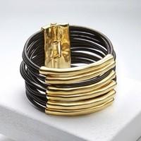 UNOde50 UNO de 50 Armband | TU BI MOLT | GOUD | Leer | XL
