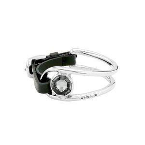 UNOde50 UNOde50 Armband | ON MY OWN | GRIJS KRISTAL LEER | RENAISSANCE FW20