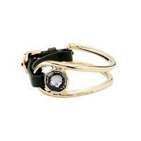 UNOde50 UNOde50 Armband | ON MY OWN | GOLD KRISTAL LEER | RENAISSANCE FW20