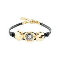 UNOde50 UNOde50 Armband | TOO MUCH | GOLD KRISTAL LEER | RENAISSANCE FW20