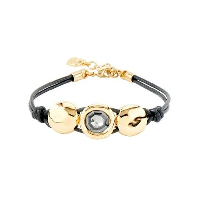 UNOde50 UNOde50 Armband | TOO MUCH | GOLD KRISTAL LEER | PUL1974NGRORO0M