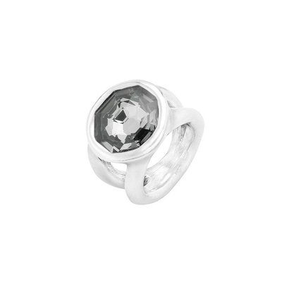 UNOde50 UNOde50 Ring | ON MY OWN | ZILVER KRISTAL | ANI0654GRSMTL