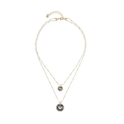 UNOde50 UNOde50  Ketting | DOUBLE TROUBLE | GOLD KRISTAL | COL1539GRSORO0U