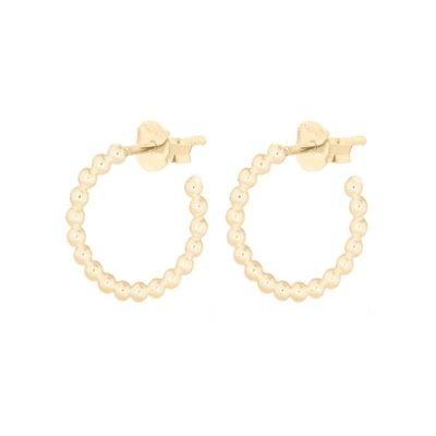 MIAB Jewels MIAB Oorbellen | Goud | Hoop Balls | 14k goud vermeil