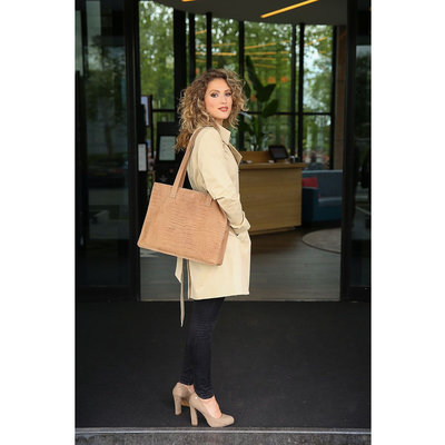 CHABO BAGS CHABO BAGS   WORKER CROCO MADRID   CAMEL