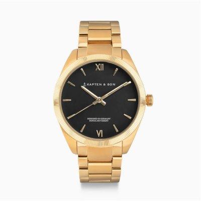 KAPTEN & SON KAPTEN & SON Horloge | CRUSH | GOLD BLACK STEEL | 36 MM