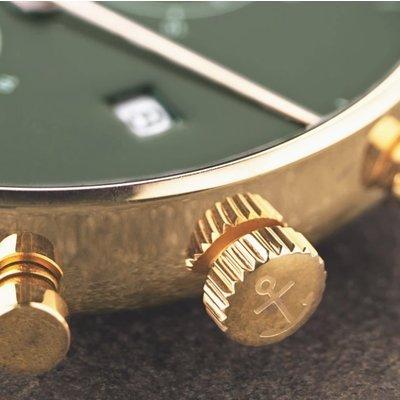KAPTEN & SON KAPTEN & SON Horloge | CHRONO | GOLD GREEN STEEL | 40 MM