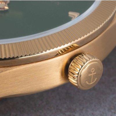 KAPTEN & SON KAPTEN & SON Horloge | CRUSH | GOLD GREEN STEEL | 36 MM