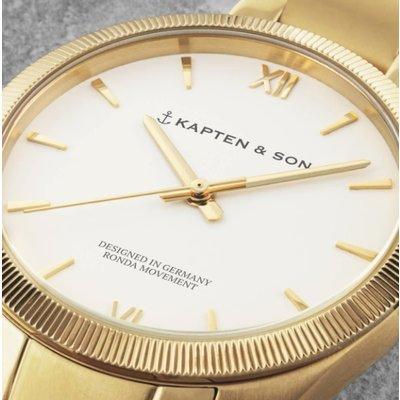KAPTEN & SON KAPTEN & SON Horloge | CRUSH | GOLD STEEL | 36 MM