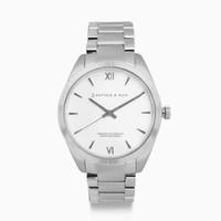 KAPTEN & SON KAPTEN & SON Horloge | CRUSH | SILVER STEEL | 36 MM