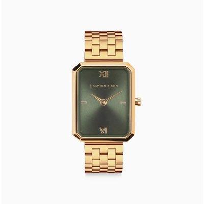KAPTEN & SON KAPTEN & SON Horloge | GRACE GOLD | GREEN STEEL