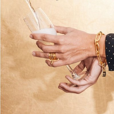 UNOde50 UNOde50 Armband | AWESOME | VERGULD | Schakel Armband | PUL0949ORO0000M