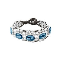 UNOde50 UNOde50 Armband | MAKE IT HAPPEN | ZILVER KRISTAL LEER | ECSTASY SS21