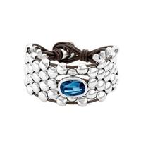 UNOde50 UNOde50 Armband | BLUE VIBES | ZILVER KRISTAL LEER | ECSTASY SS21