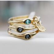 UNOde50 UNOde50 Ring | HAPPY BLUE | GOLD | FREEDOM | ANI0678AZUORO