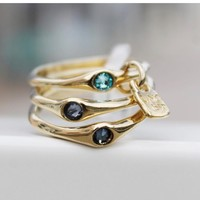 UNOde50 UNOde50 Ring | HAPPY BLUE | GOLD | FREEDOM | SS21