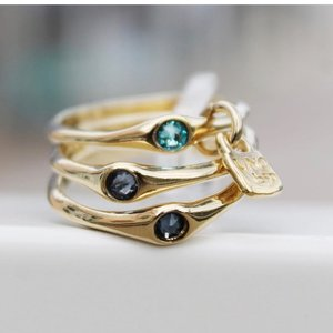 UNOde50 UNOde50 Ring | HAPPY BLUE | VERGULD | FREEDOM | SS21