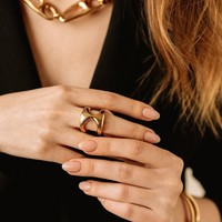 UNOde50 UNOde50 Ring | THE ONE | VERGULD | GLAM SS21