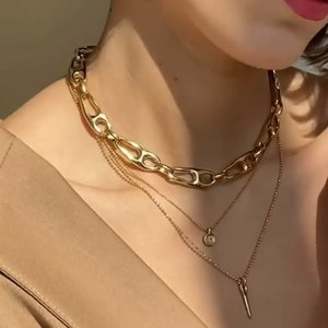 UNOde50 UNOde50  Ketting | US | VERGULD | THREAD OF LIFE SS21