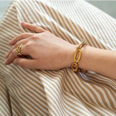 UNOde50 UNOde50 Armband | AWESOME | GOLD | Schakel Armband | PUL0949ORO0000M