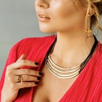 UNOde50 UNOde50  Ketting | DOUBLE BALANCE | VERGULD |  FREEDOM SS21