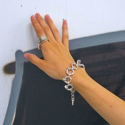 UNOde50 UNOde50 Armband   NAIL ON THE HEAD   ZILVER   SS19   PUL1805MTL0000M