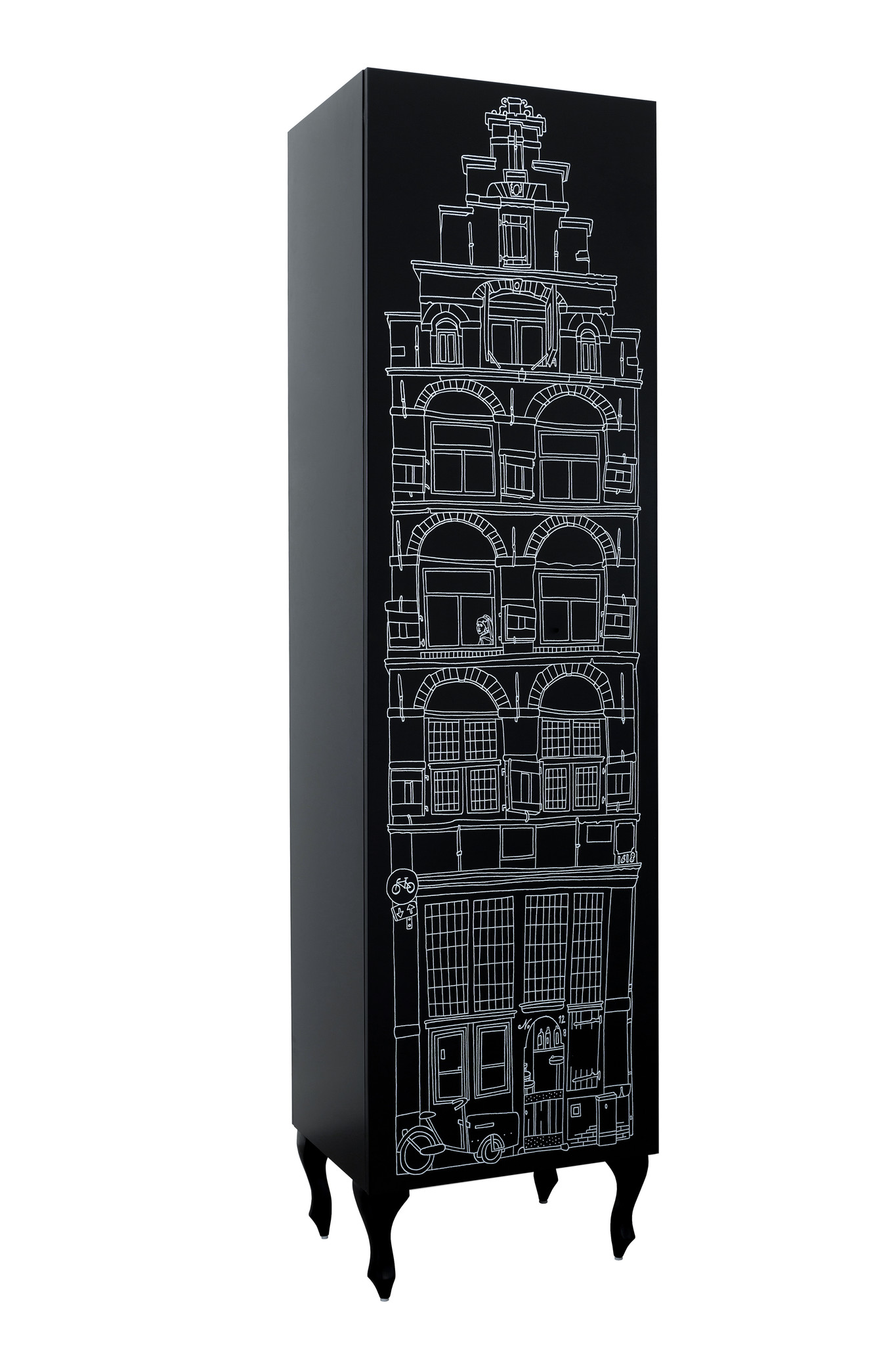Cabinet Amsterdam Print Trapgevel/Stairgable-4