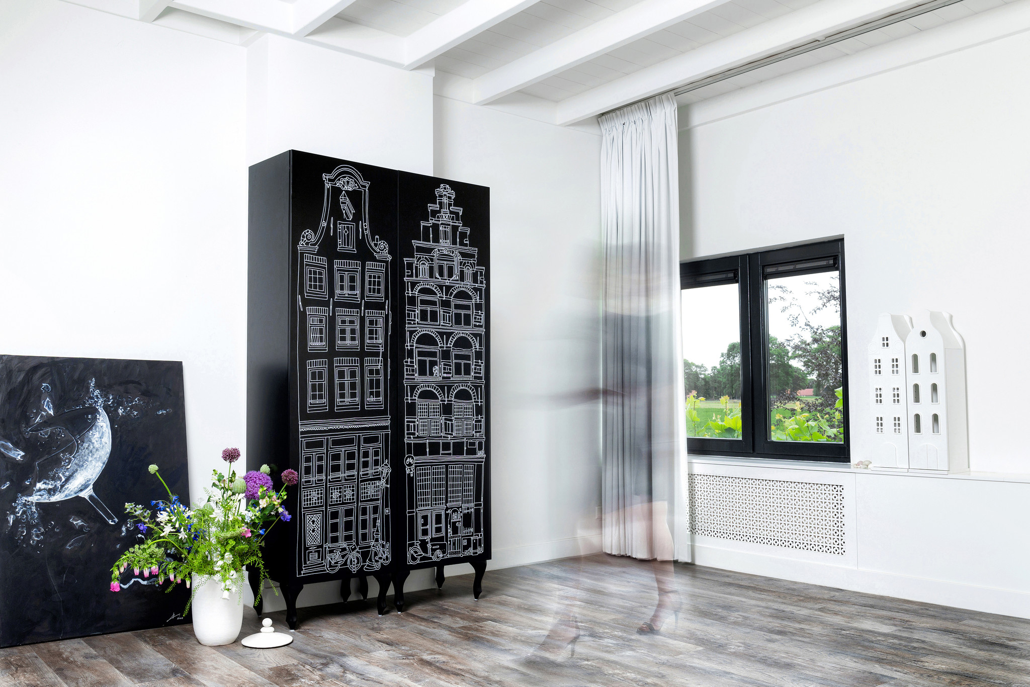 Schrank Amsterdam Print Stufengiebel/Treppengiebel-5