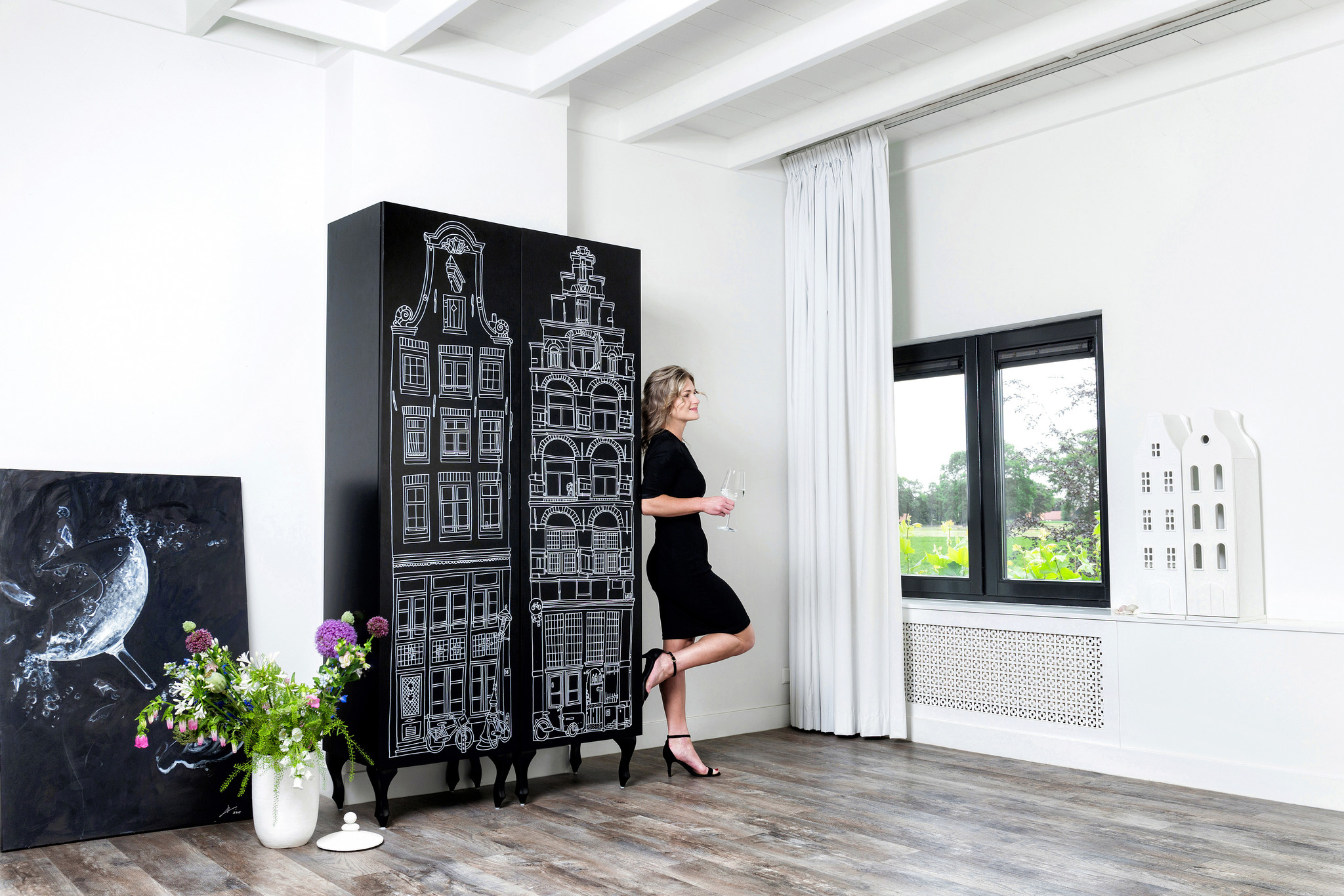 Cabinet Amsterdam Print Trapgevel/Stairgable-7