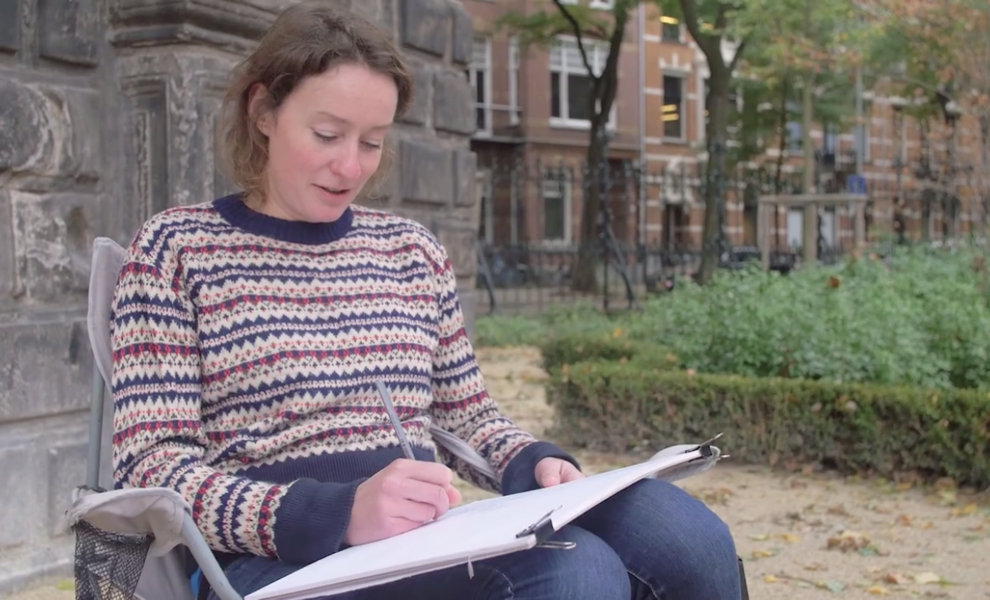 Artist Elles Middeljans (who illustrated our Amsterdam Print)  draws Rijksmuseum