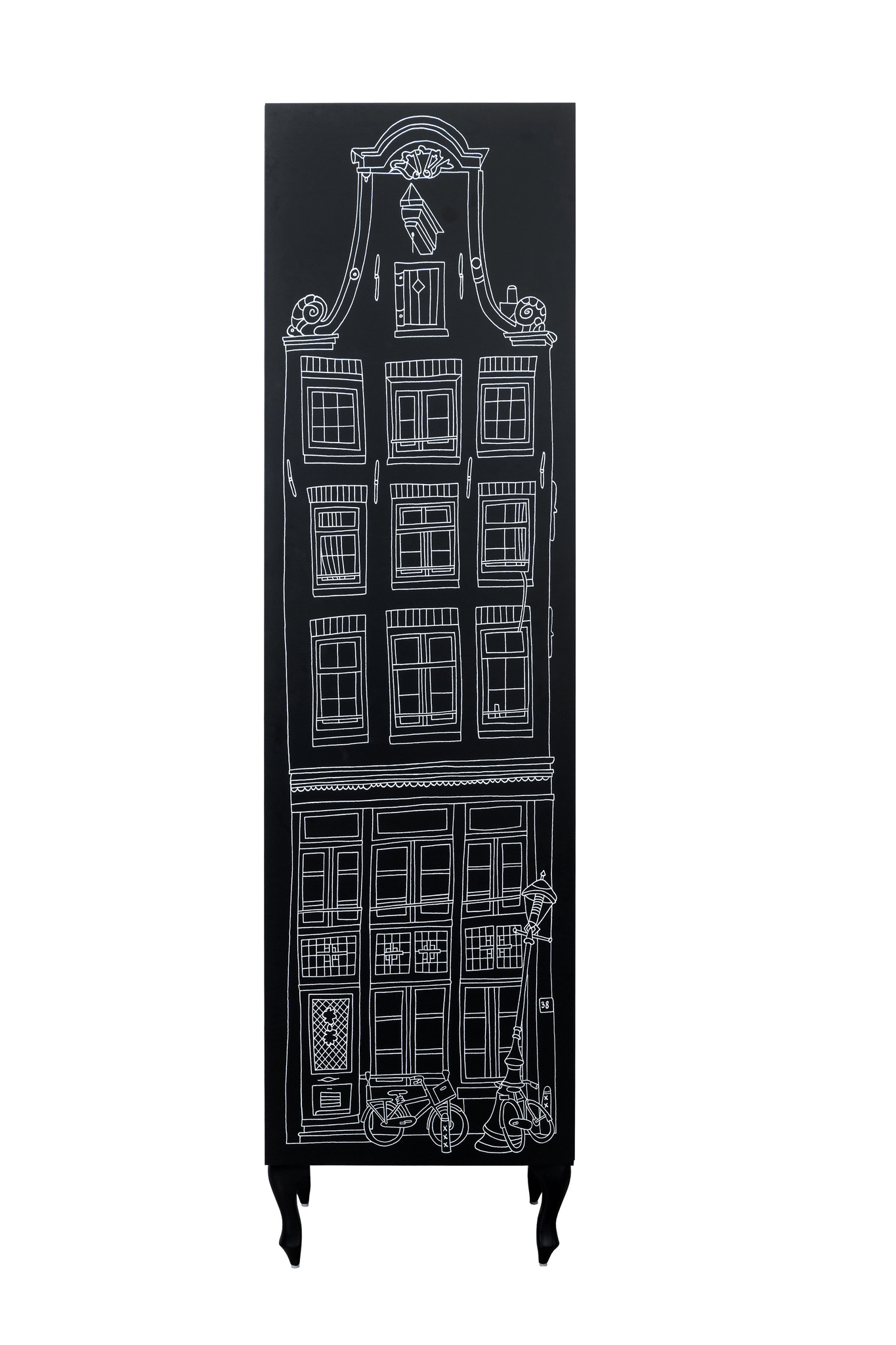 Schrank Amsterdam Print Stufengiebel/Treppengiebel-8
