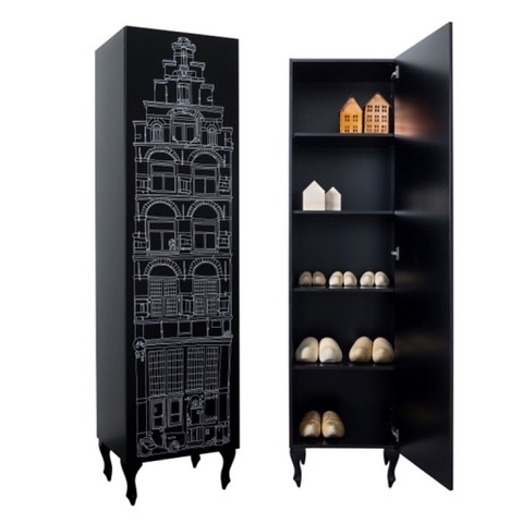 Cabinet Amsterdam Print Trapgevel/Stairgable-2